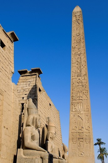 Egypt, Upper Egypt, Nile Valley, Luxor Temple listed as World Heritage by UNESCO : Stock Photo