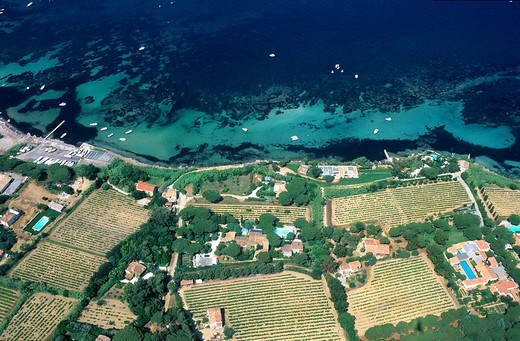 Stock Photo: 1792-115988 France, Var, Saint Tropez, Anse des Canoubiers, beach aerial view