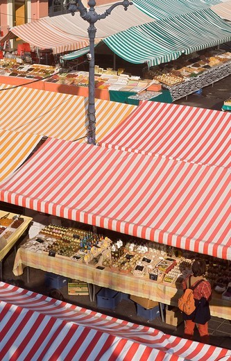 France, Alpes Maritimes, Nice, Old Town, Cours Saleya market : Stock Photo