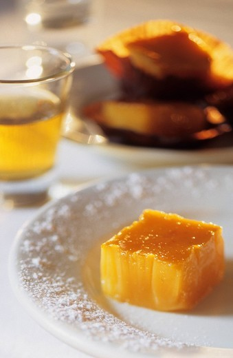 Spain, Castile_Leon, Leon, Yemas de benito, recipe by Le Faisan dore restaurant : Stock Photo