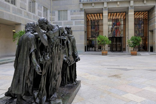 Stock Photo: 1792-118230 Switzerland, Basel, Museum of Fine Arts Kunstmuseum, The Burghers of Calais by the sculptor Auguste Rodin