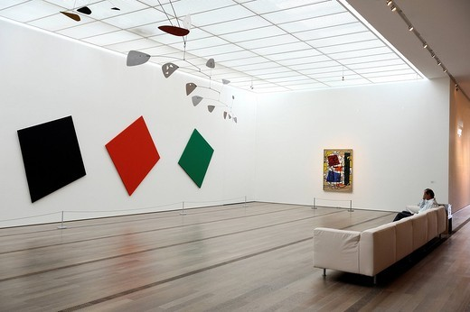 Stock Photo: 1792-118253 Switzerland, Basel, Beyeler Foundation, Bleu, noir, rouge et vert of the artist Kelly Ellsworth
