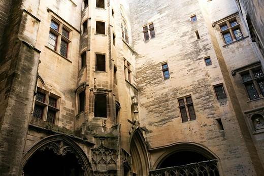 France, Bouches du Rhone, Tarascon, King Rene´s Castle of the 14th/15th century : Stock Photo