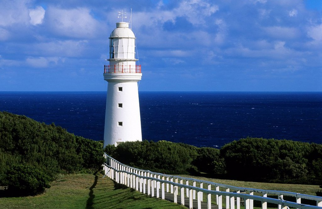 Australia, Victoria, Great Ocean Road, Great Otway National Park, Cape Otway lighthouse : Stock Photo