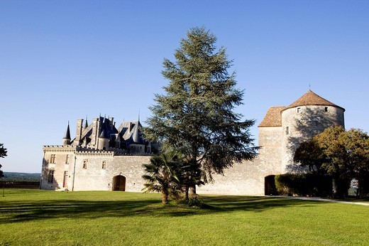 France, Dordogne, Perigord Pourpre, Saint Michel de Montaigne, Montaigne´s castle : Stock Photo