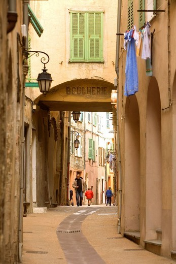 Stock Photo: 1792-122974 France, Alpes Maritimes, Roya Valley, Breil sur Roya, narrow street