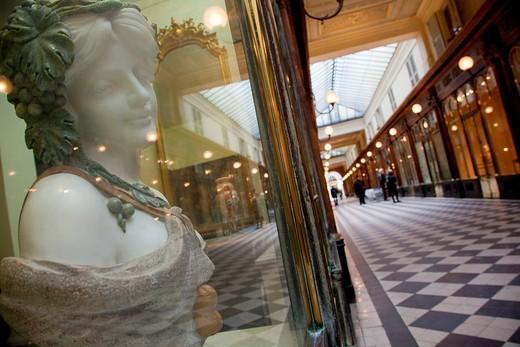 France, Paris, Passage Vero Dodat : Stock Photo