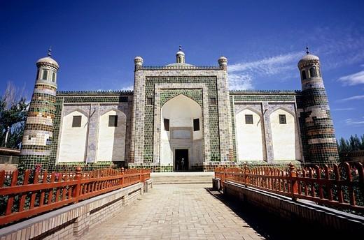 China, Xinjiang, shrine of Apak Hoja, built in 1640 : Stock Photo