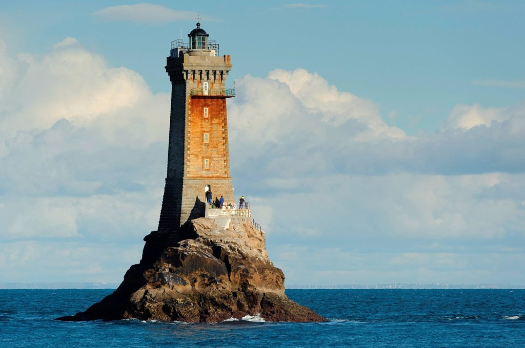 Stock Photo: 1792-125121 France, Finistere, Iroise Sea, Plogoff, Pointe du Raz, Phare de la Vieille