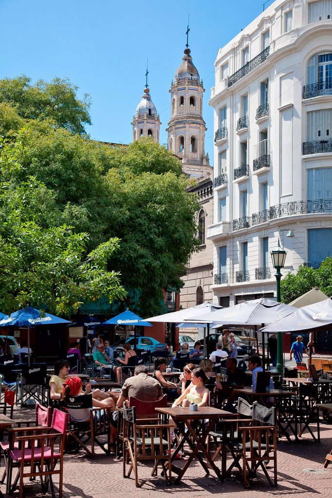 Stock Photo: 1792-125603 Argentina, Buenos Aires, San Telmo district, Dorrego square