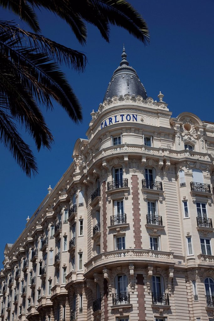France, Alpes Maritimes, Cannes, Croisette, Carlton Intercontinental Hotel, palace : Stock Photo