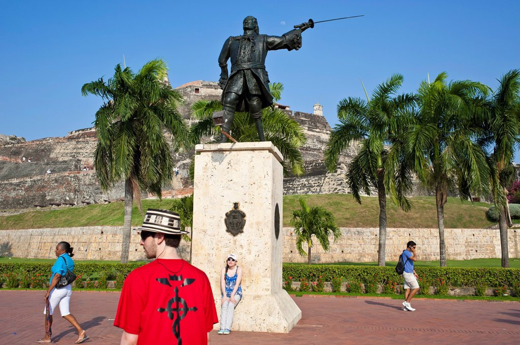 Stock Photo: 1792-126443 Colombia, Bolivar Department, Cartagena, listed as World Heritage by UNESCO, the castle of San Felipe de Barajas, the largest fortress built by the Spaniards during the Colonial time