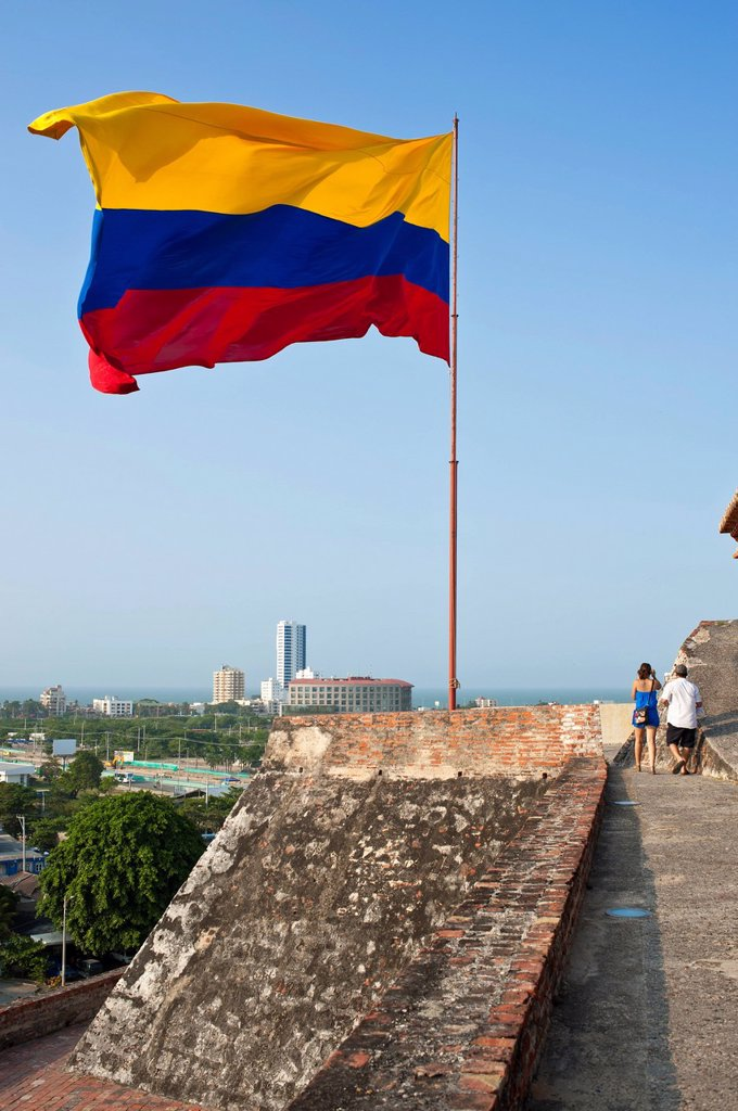 Stock Photo: 1792-126447 Colombia, Bolivar Department, Cartagena, listed as World Heritage by UNESCO, the castle of San Felipe de Barajas, the largest fortress built by the Spaniards during the Colonial time