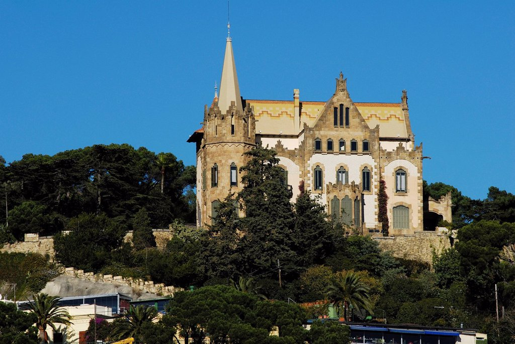 Stock Photo: 1792-126748 Spain, Catalonia, Barcelona, Tibidabo hill, Casa Arnus, Modernistic building built in 1903 by architect Enric Sagnier, Carrer Manuel Arnus 1_31