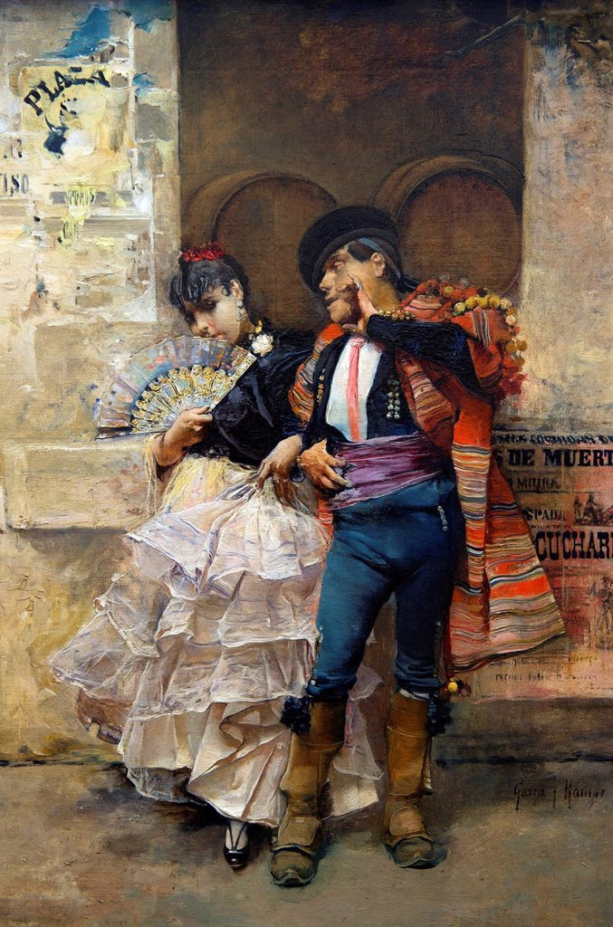 Stock Photo: 1792-127204 Spain, Andalusia, Seville, Museo de Bellas Artes Fine Arts Museum, Pareja de baile sevillana by Jose Garcia Ramos