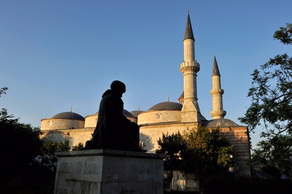 Turkey, East Thrace, Marmara Region, Edirne, Old Mosque Eski Cami with Ottoman Style by darchitect Sinan, listed as World Heritage by UNESCO : Stock Photo