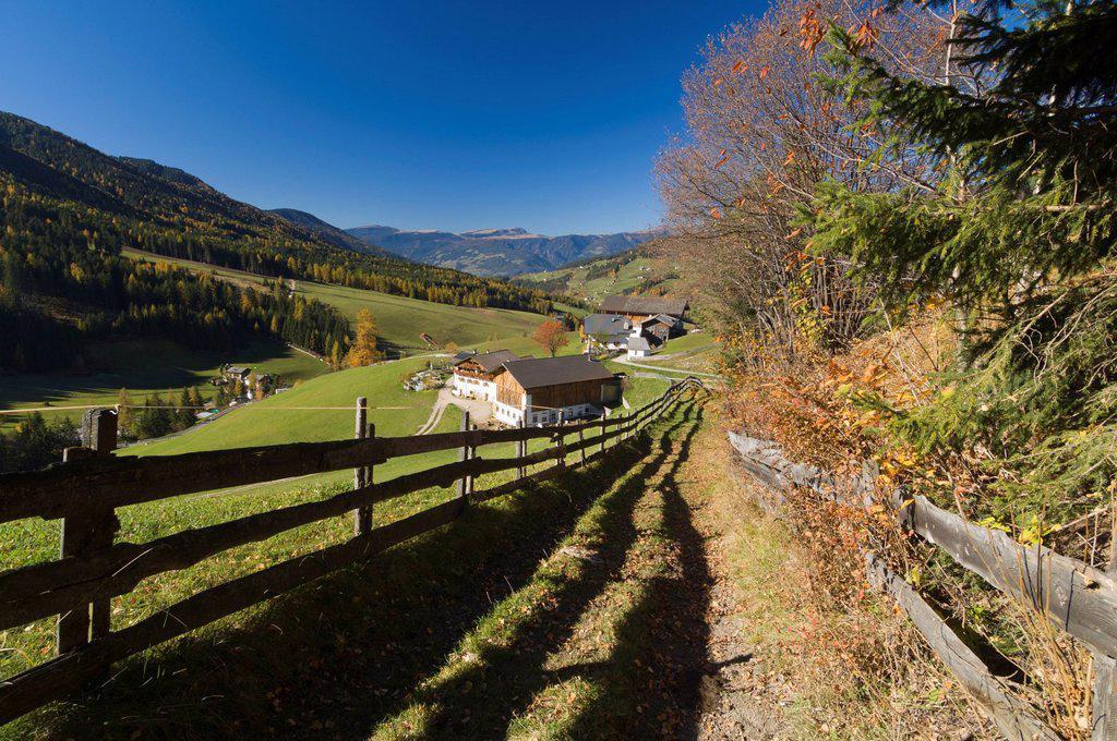 Stock Photo: 1792-128120 Italy, Trentino_Alto Adige, autonomous province of Bolzano, Dolomites, Val di Funes Funes valley, Santa Maddalena