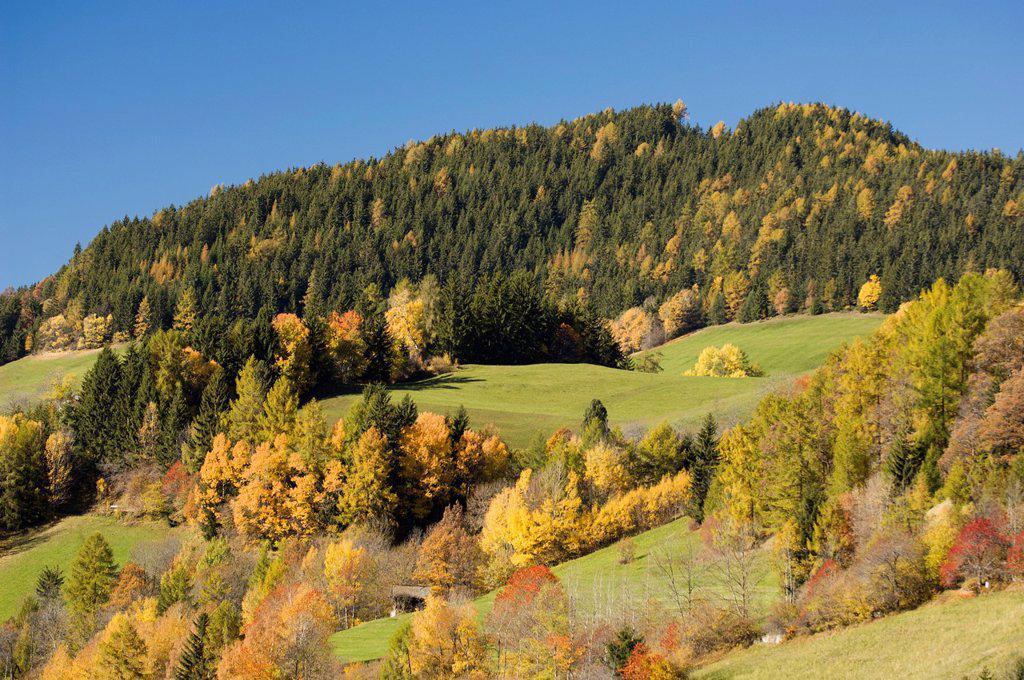 Stock Photo: 1792-128122 Italy, Trentino_Alto Adige, autonomous province of Bolzano, Dolomites, Val di Funes Funes valley, Santa Maddalena