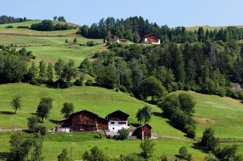 Italy, Trentino_Alto Adige, autonomous province of Bolzano, Dolomites, Val di Funes Funes valley, Santa Maddalena : Stock Photo