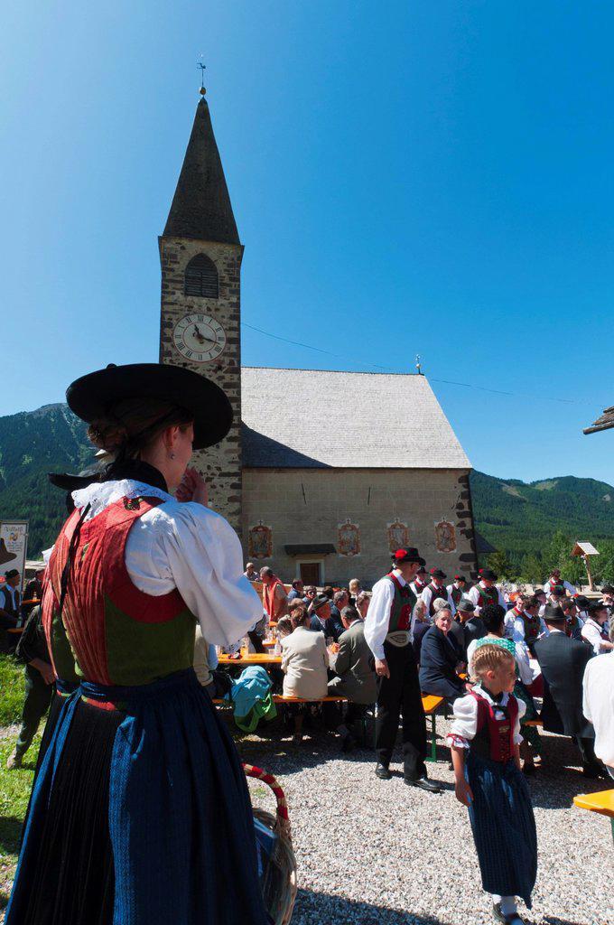 Stock Photo: 1792-129646 Italy, Trentino_Alto Adige, autonomous province of Bolzano, Dolomites, Val di Funes Funes valley, Santa Maddalena