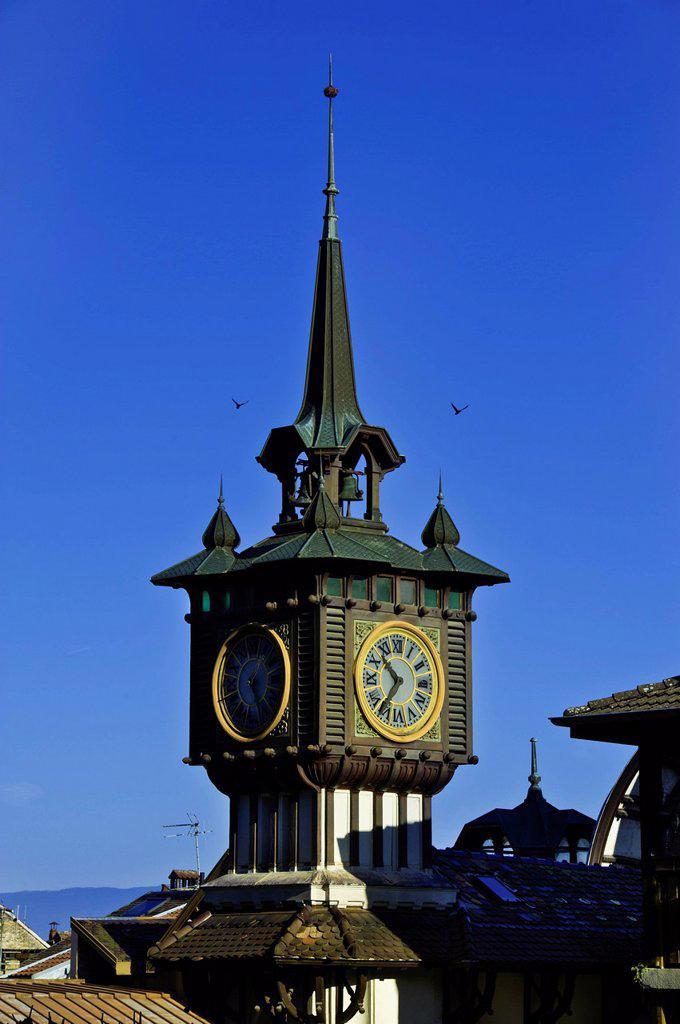 Stock Photo: 1792-130139 France, Haute Savoie, Le Chablais, Evian les Bains, Cachat fountain