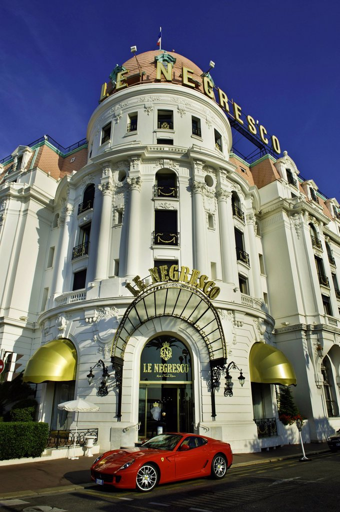 France, Alpes Maritimes, Nice, Promenade des Anglais, Negresco Hotel : Stock Photo