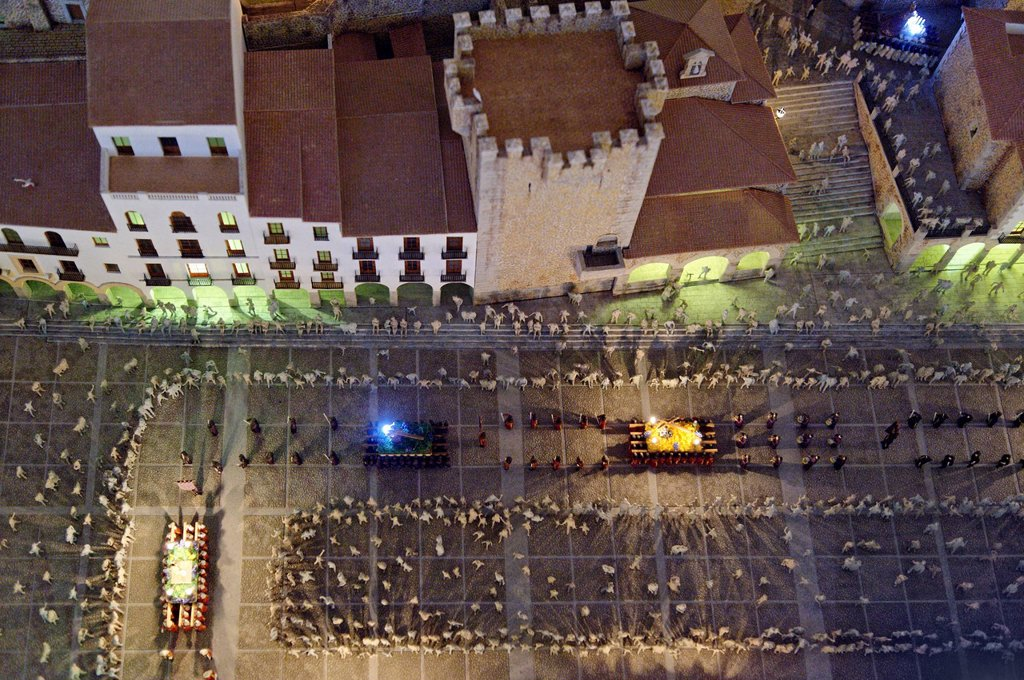 Stock Photo: 1792-130531 Spain, Extremadura, Caceres, old town listed as World Heritage by UNESCO, the Holy Week Museum, model of the city during the traditional festivals