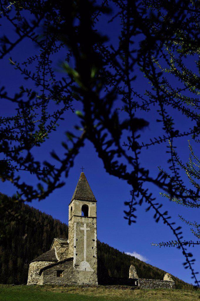 France, Savoie, Bramans, Les Chemins du Baroque the paths of Baroque, St Pierre Extravache church : Stock Photo