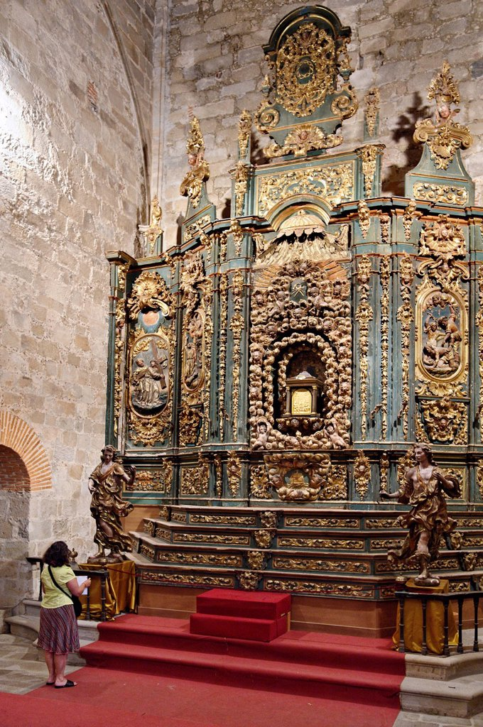Stock Photo: 1792-131169 Spain, Extremadura, Plasencia, cathedral Vieja, altarpiece