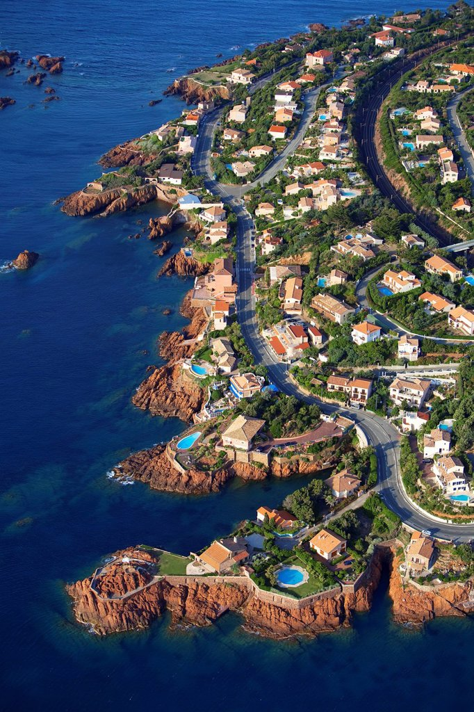 Stock Photo: 1792-131770 France, Var, Esterel, Saint Raphael, antheor aerial view
