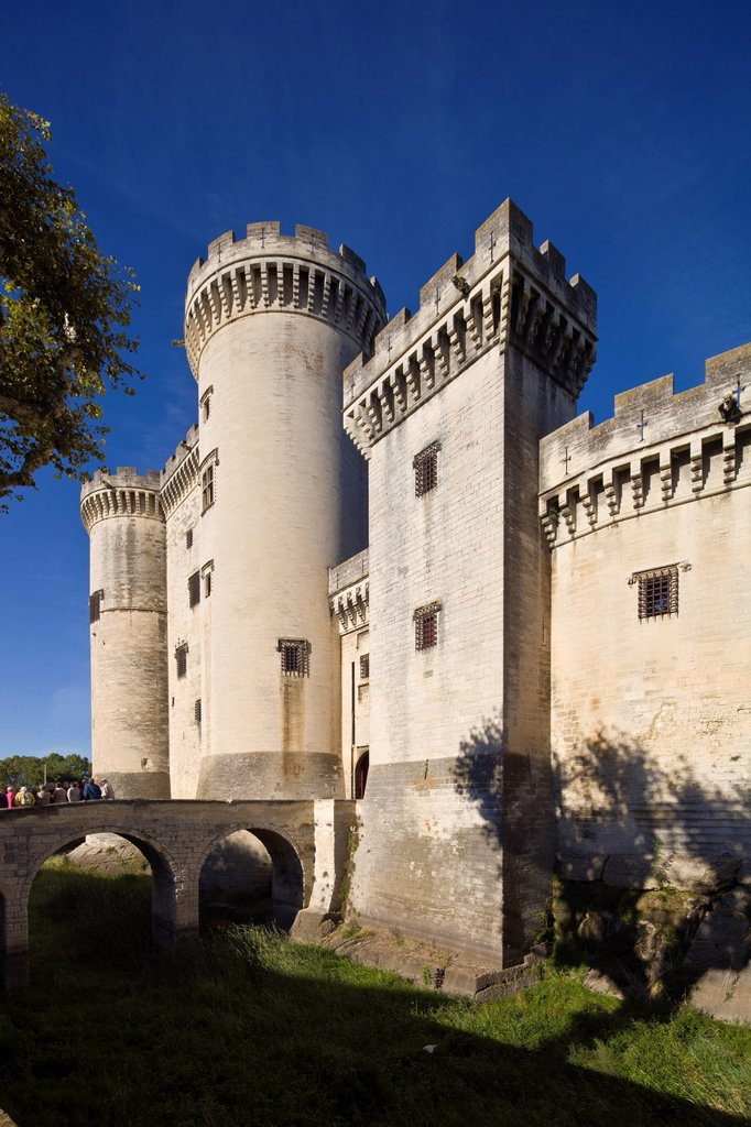 France, Bouches du Rhone, Alpilles, Tarascon, Chateau du Roi Rene King Rene´s Castle of the 14th_15th century : Stock Photo