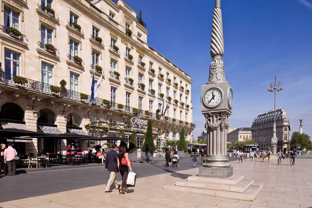 Stock Photo: 1792-132591 France, Gironde, Bordeaux, area listed as World Heritage by UNESCO, The Grand Hotel