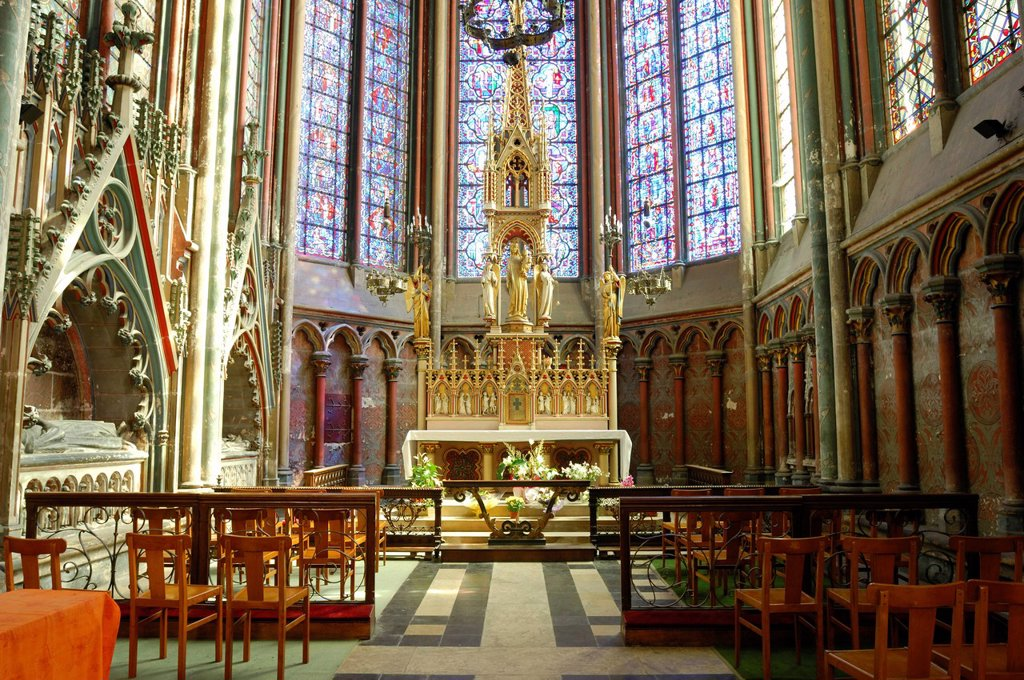 Stock Photo: 1792-132633 France, Somme, Amiens, Notre Dame d´Amiens Cathedral, listed as World Heritage by UNESCO, the Blessed Sacrament Chapel of the Cathedral
