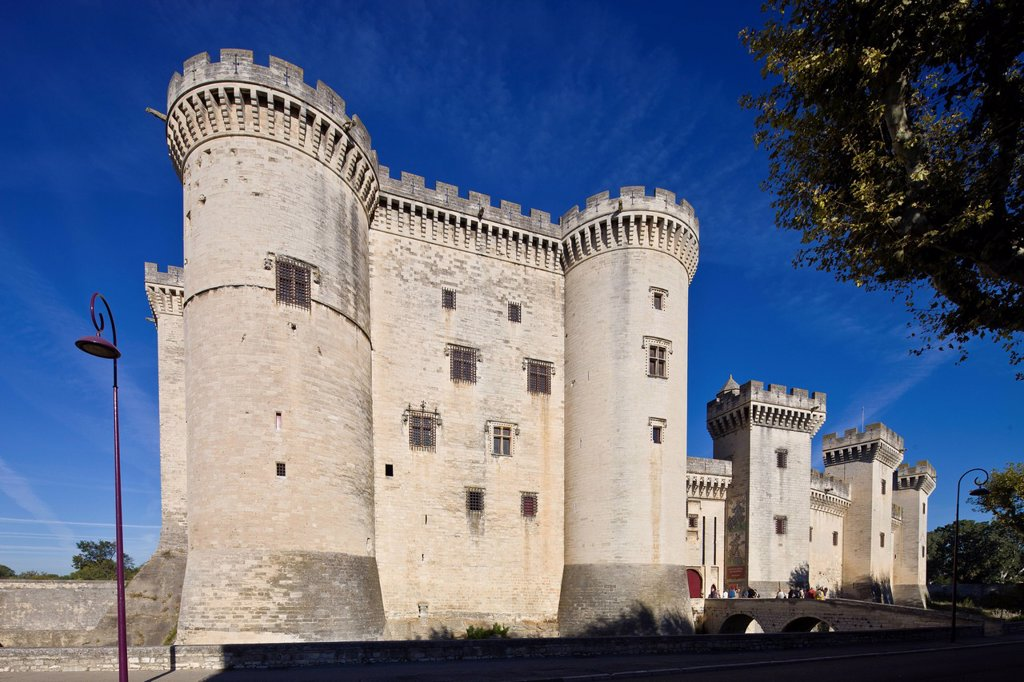 Stock Photo: 1792-132690 France, Bouches du Rhone, Alpilles, Tarascon, Chateau du Roi Rene King Rene´s Castle of the 14th_15th century
