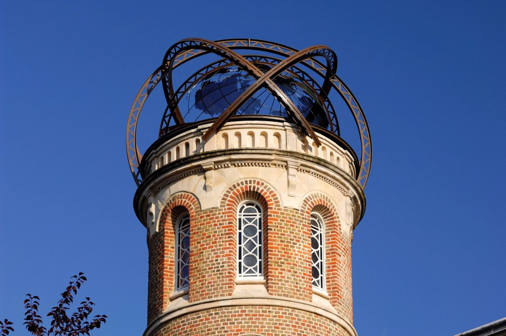Stock Photo: 1792-133900 France, Somme, Amiens, tower of Jules Verne´s house covered with an armillary sphere