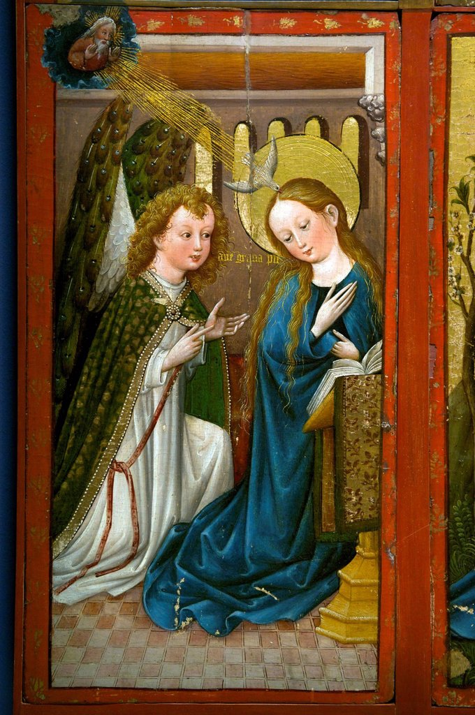Stock Photo: 1792-133919 Germany, Black Forest, Schwarzwald, Baden_Wuerttemberg, Freiburg, Augustinermuseum, Staufen altarpiece, Upper Rhine, 1420_1430