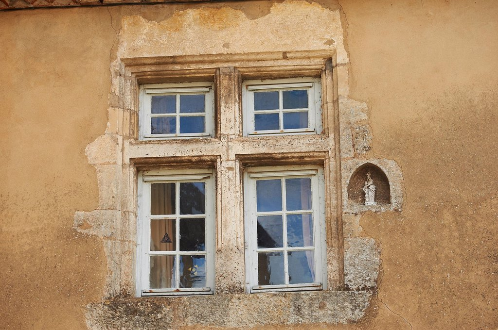 Stock Photo: 1792-134941 France, Dordogne, Limeuil, labeled Les Plus Beaux Villages de France The Most Beautiful Villages of France, architectural details