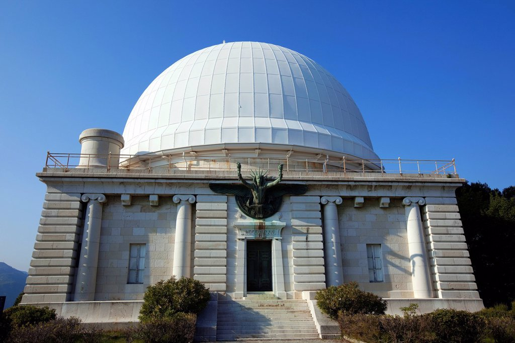 Stock Photo: 1792-135290 France, Alpes Maritimes, Nice, Mont Gros, the observatory was established in 1881 by philanthropist Raphael Bischoffsheim, the dome Bischoffsheim