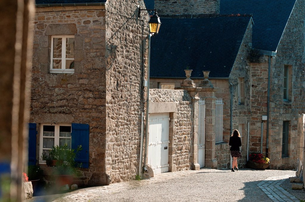 Stock Photo: 1792-136136 France, Cotes d´Armor, Moncontour de Bretagne, labelled Les Plus Beaux Villages de France The Most Beautiful Villages of France, Rue des Dames