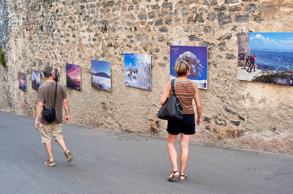 Stock Photo: 1792-139573 France, Haute Corse, Corte, former capital of independent Corsica and stronghold of the center of the island, photo exhibition in the citadel