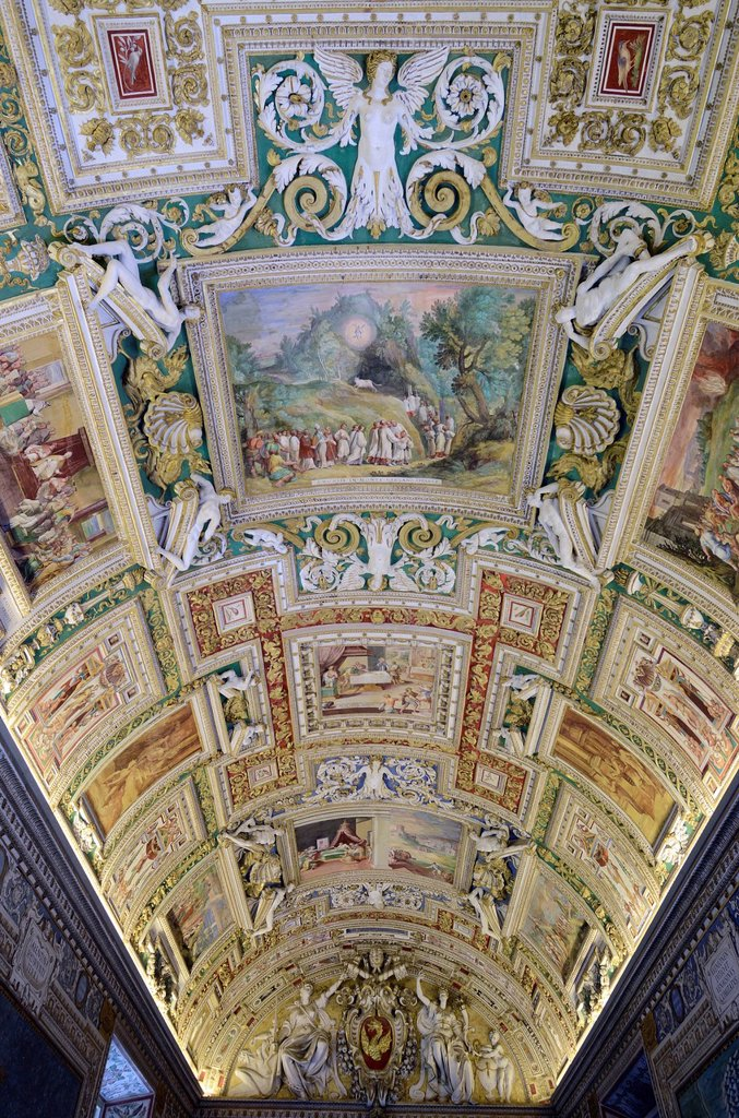 Stock Photo: 1792-140049 Italy, Lazio, Rome, Vatican City listed as World Heritage by UNESCO, Vatican museums, the vault of the gallery of Maps