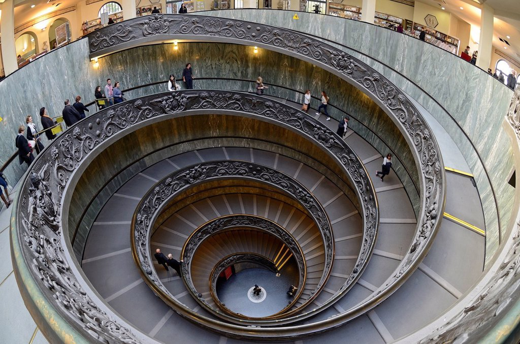Stock Photo: 1792-140339 Italy, Lazio, Rome, Vatican city listed as World Heritage by UNESCO, Vatican museums, the spiral stairway by Giuseppe Momo