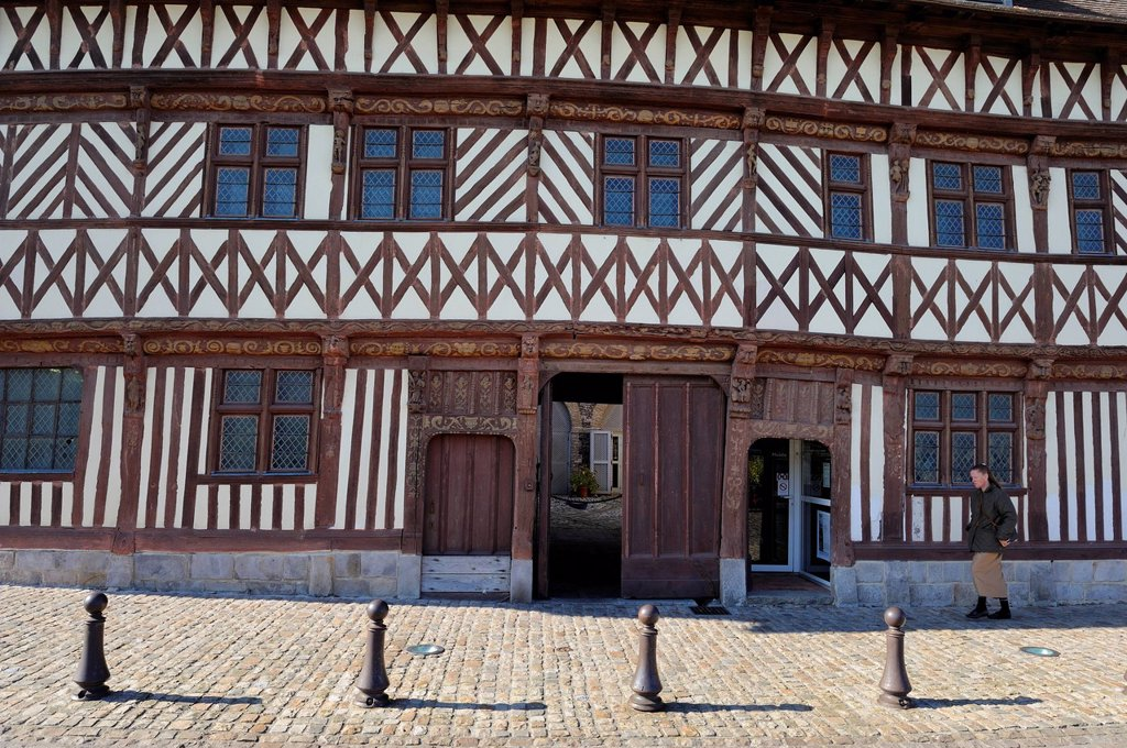 Stock Photo: 1792-140992 France, Seine Maritime, Saint Valery en Caux, the half timbered house called Henry IV 1540 also called house Ladire