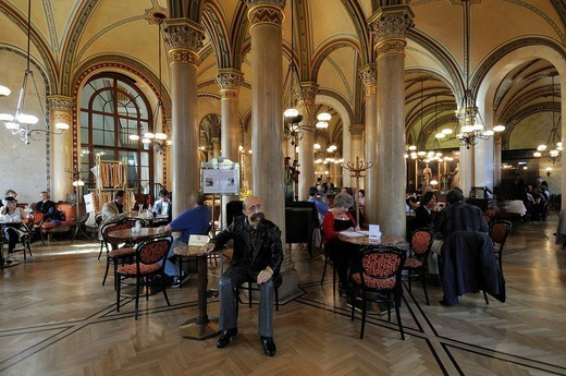 Austria, Vienna, historic center listed as World Heritage by UNESCO, Cafe Central : Stock Photo