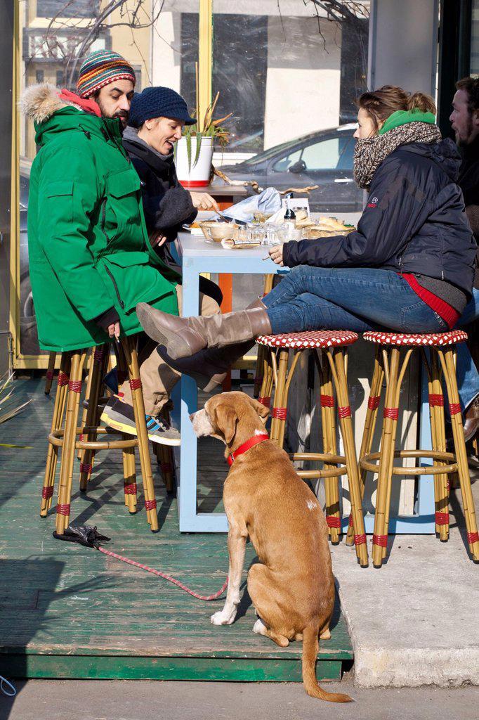 Stock Photo: 1792-141058 Austria, Vienna, Linke Wienzeile, Naschmarkt, Food Market dating back to the 18th century, cafe restaurant