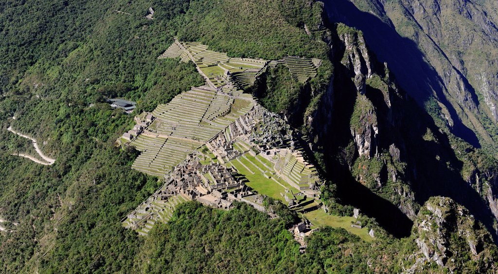 Stock Photo: 1792-144035 Peru, Cuzco Province, Incas sacred valley, Inca archeological site of Machu Picchu, listed as World Heritage by UNESCO, built in the 15th century under the reign of Pachacutec Pachacuti Inca Yupanqui, the site was discovered by explorer Hiram Bingham in 1. Peru, Cuzco Province, Incas sacred valley, Inca archeological site of Machu Picchu, listed as World Heritage by UNESCO, built in the 15th century under the reign of Pachacutec Pachacuti Inca Yupanqui, the site was discovered by explorer Hiram