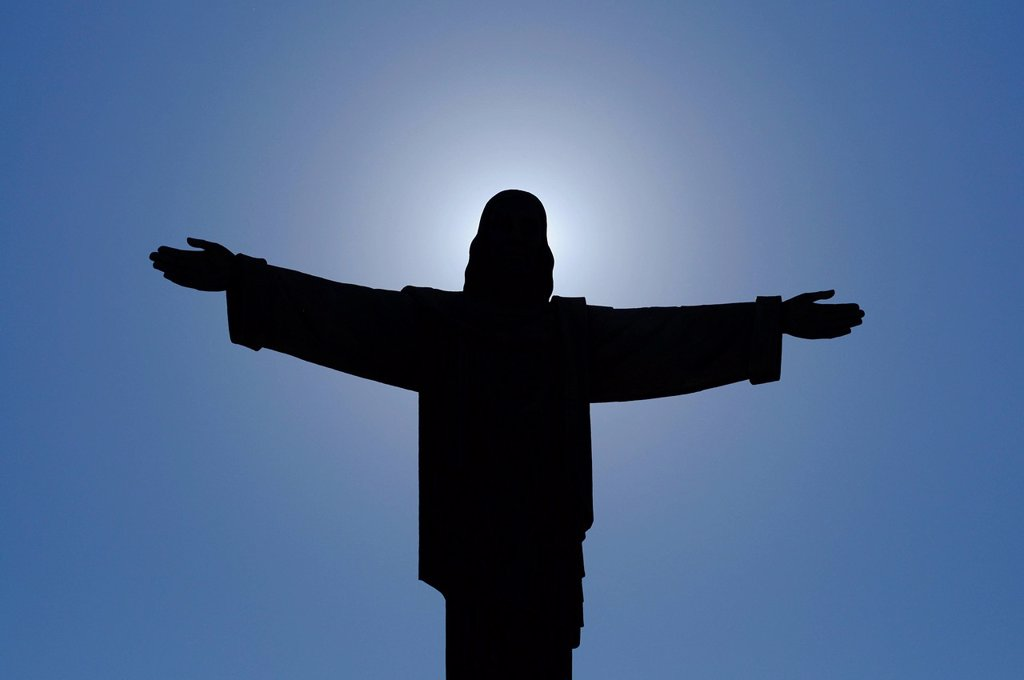 Stock Photo: 1792-144281 Dominican Republic, Puerto Plata province, Puerto Plata, statue of Jesus Christ the Redeemer with outstretched arms on top of Mount Isabel de Torres