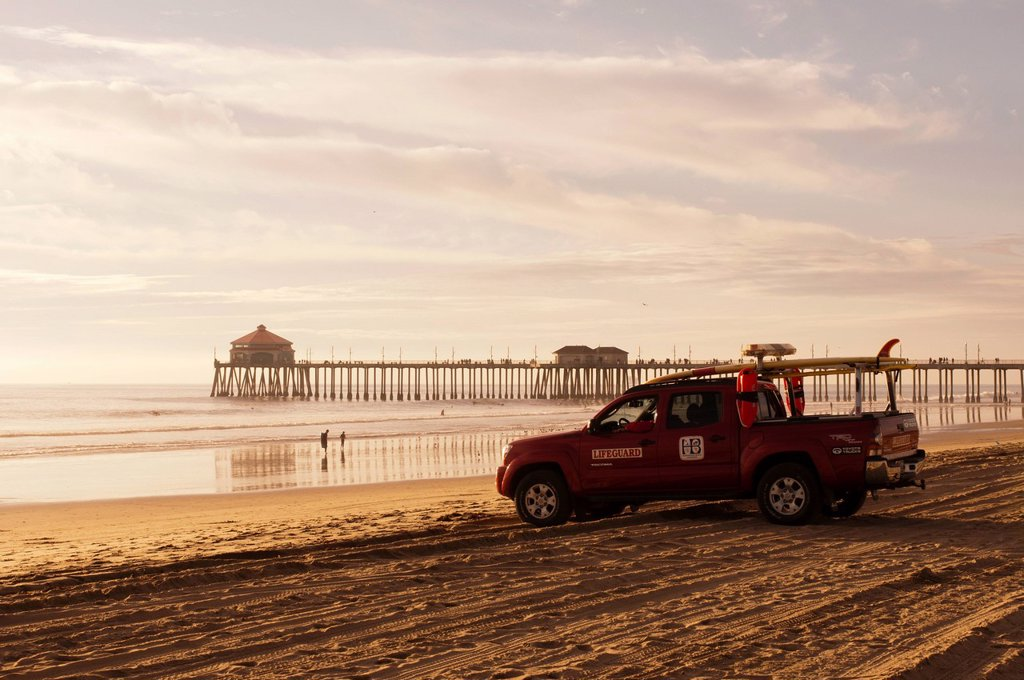 Stock Photo: 1792-145025 United States, California, Los Angeles, Huntington Beach