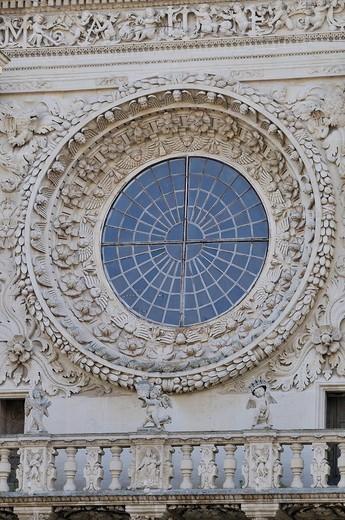 Italy, Puglia, Lecce, Santa Croce basilica : Stock Photo