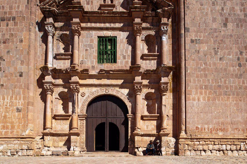 Stock Photo: 1792-146467 Peru, Puno province, Pukara, the cathedral